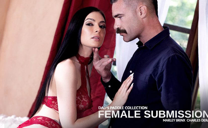Marley Brinx Uncovers 'Dad's Paddle Collection' in Pure Taboo's New Female Submission Series