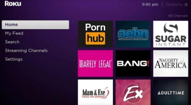 roku hidden porn channels